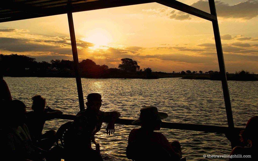 sunset botswana chobe boat cruise