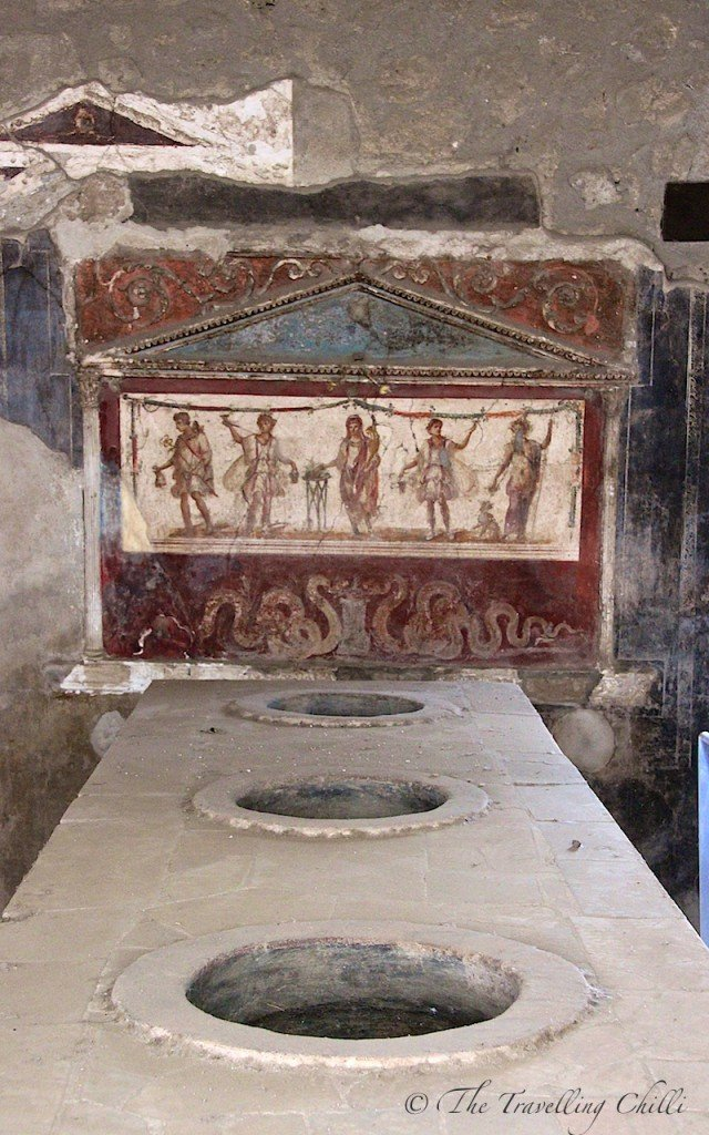 pompeii bar fresco italy
