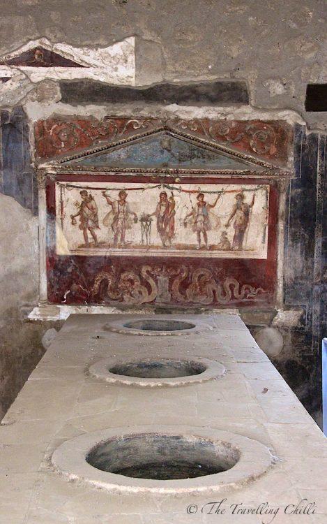 pompeii bar fresco italy