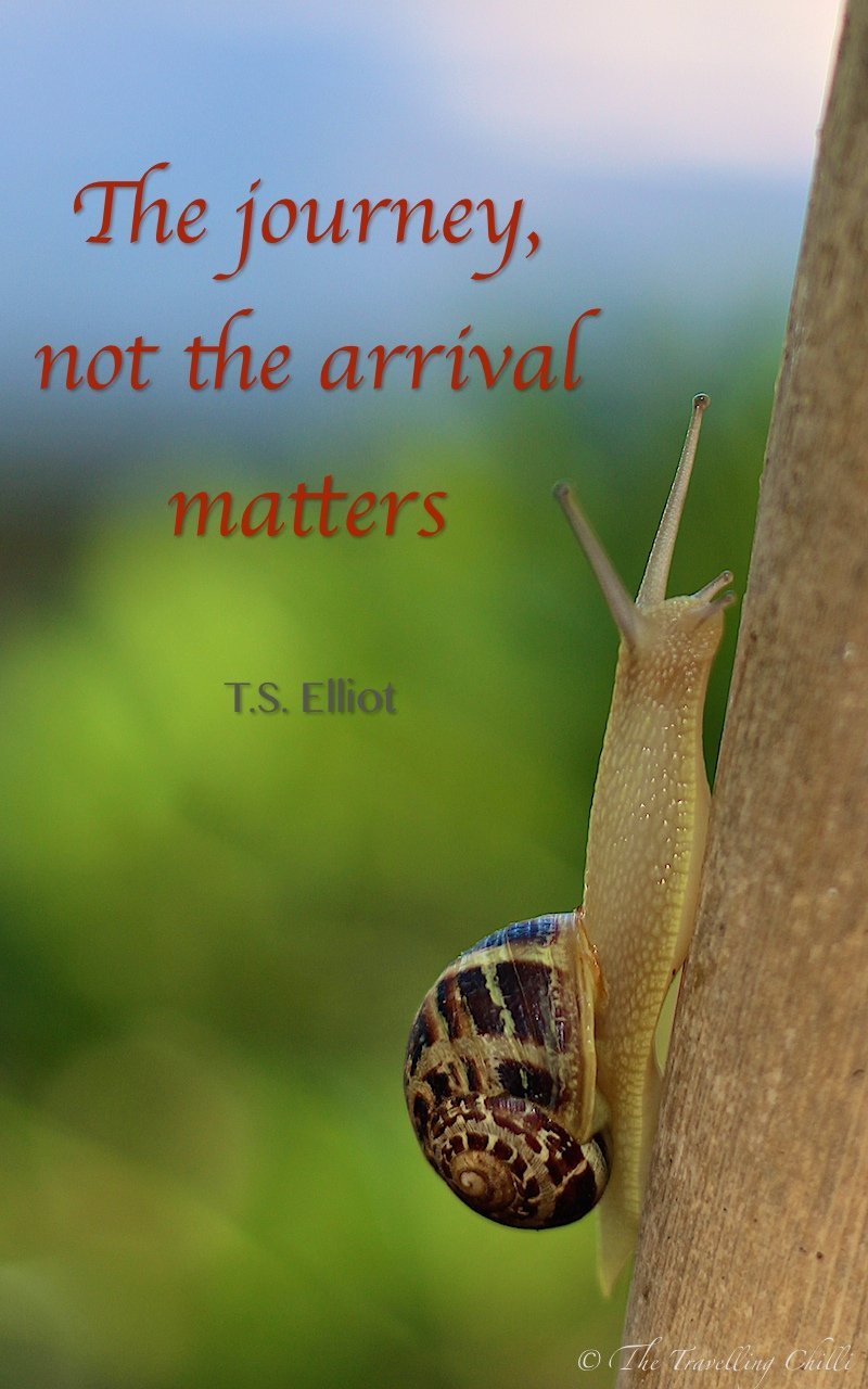 The journey, not the arrival matters
