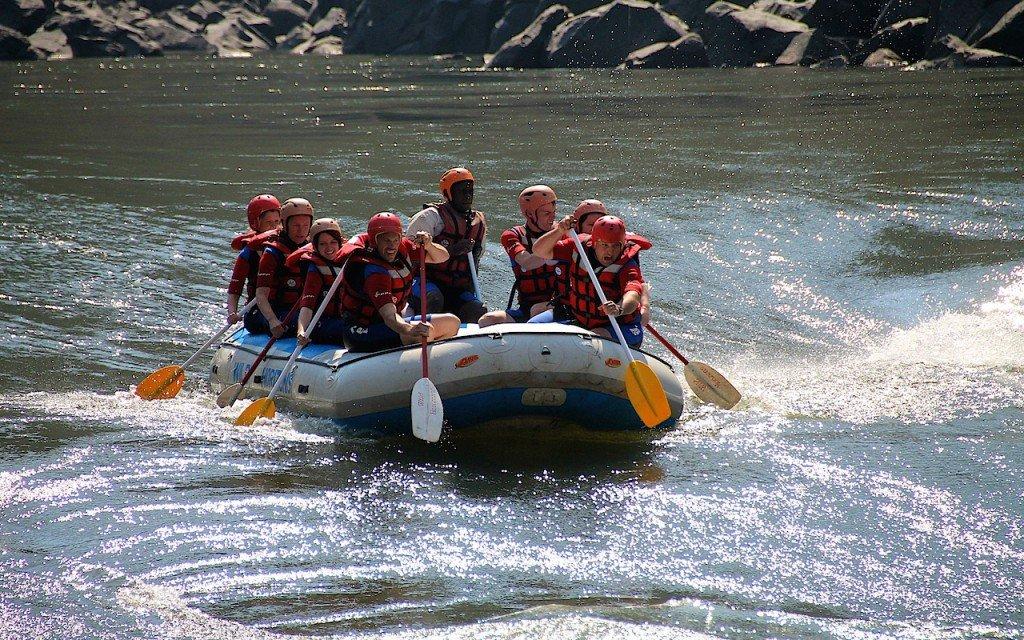 Victoria Falls rafting Zambezi Zimbabwe