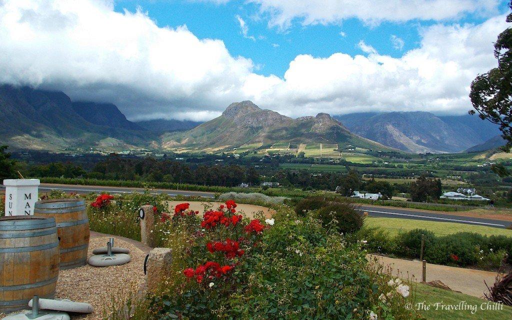 Franschoek mountains pass South Africa