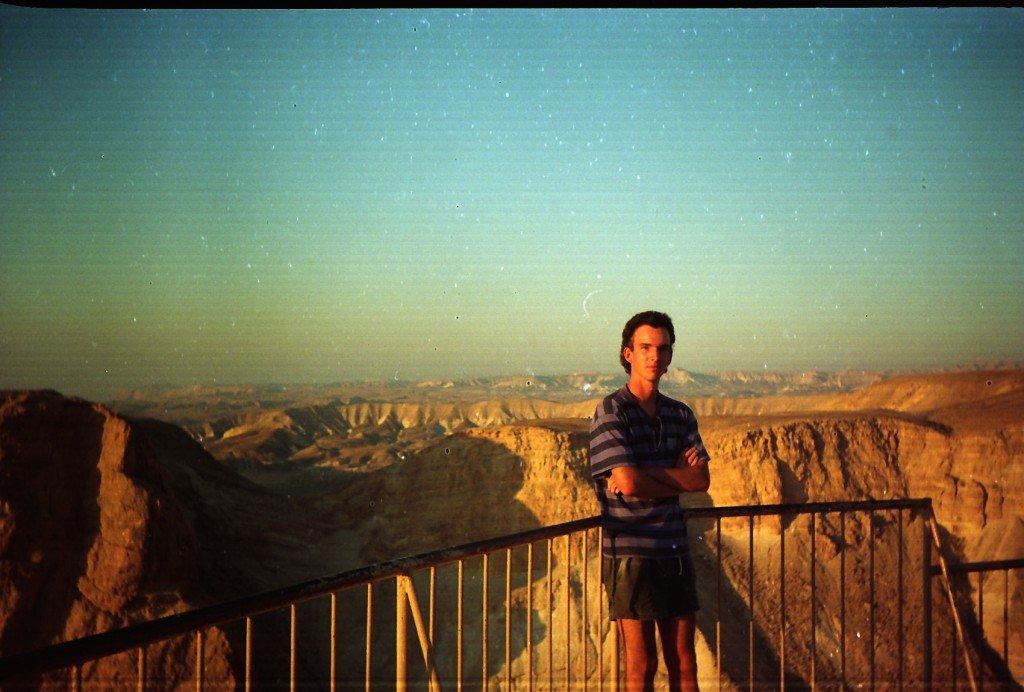 Ruins Masada Dead Sea Valley Israel Jordan