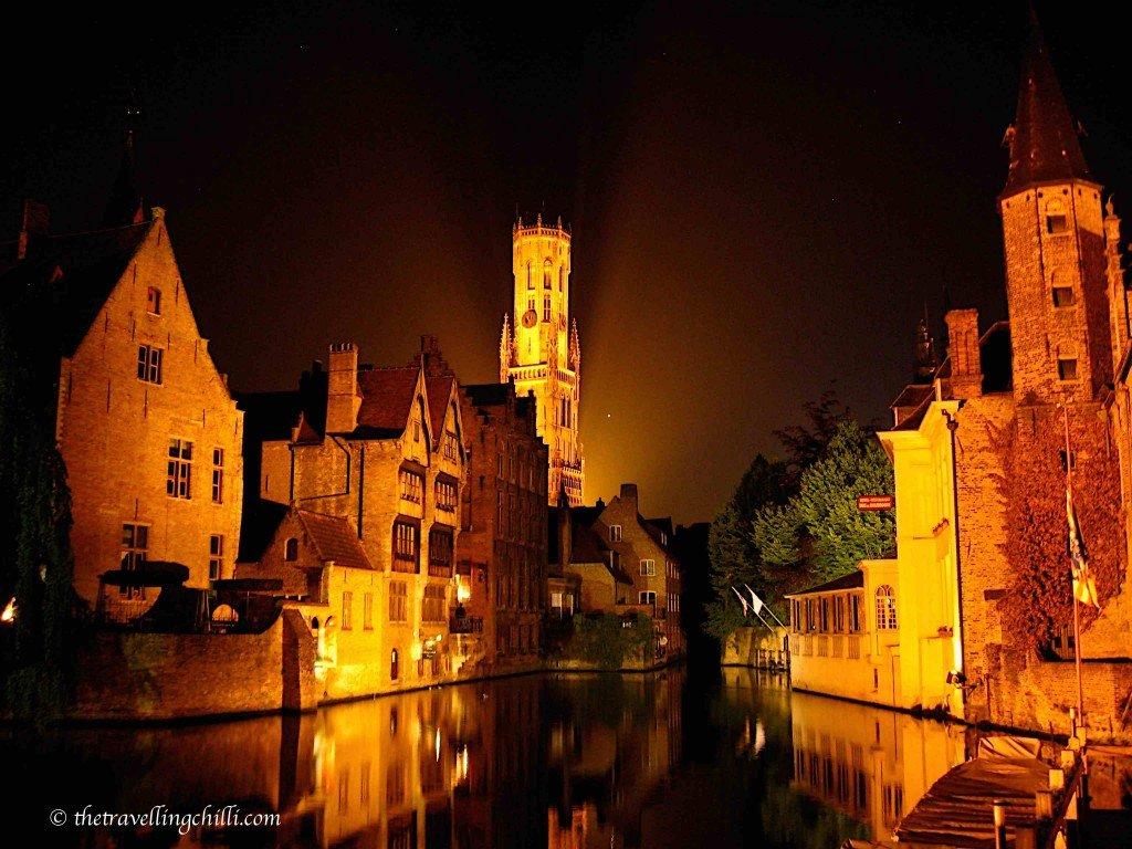 Bruges night romantic belgium