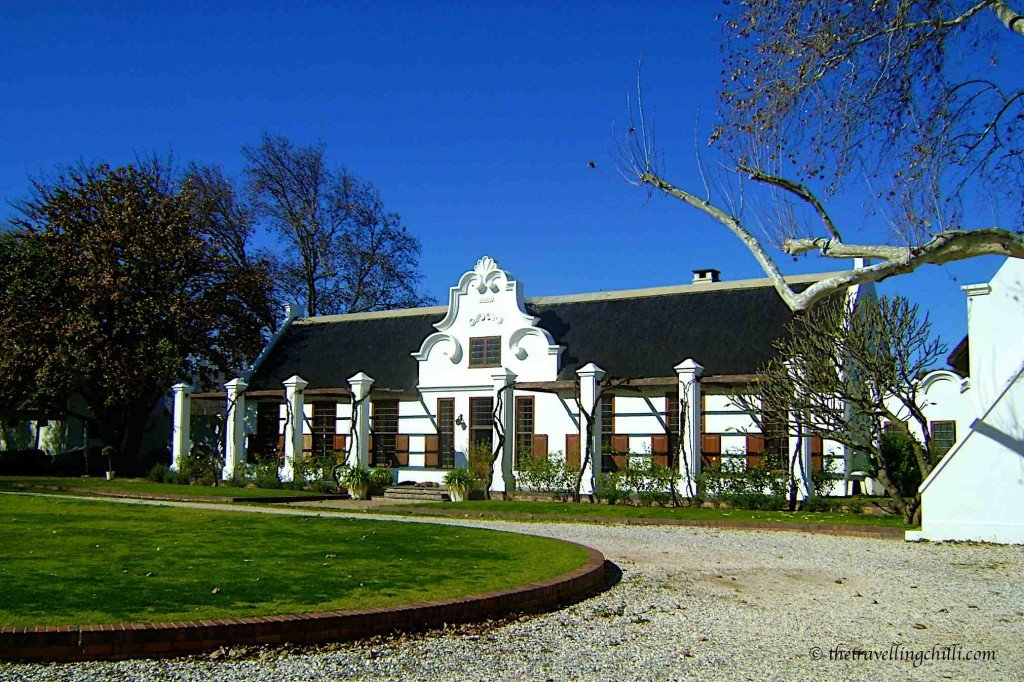 Wine estate house on Route 62 south africa