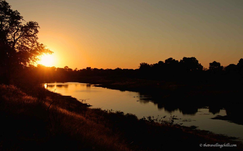 Shingwedzi river sunset kruger south africa