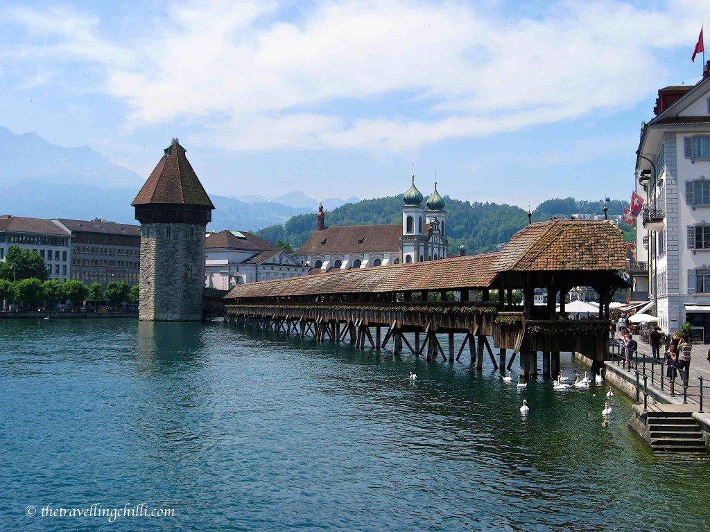 Lucerne bridge switzerland