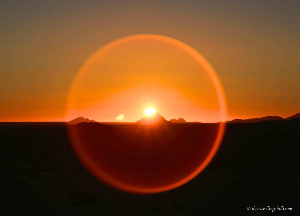 African Sunset in Spitzkoppe Namibia