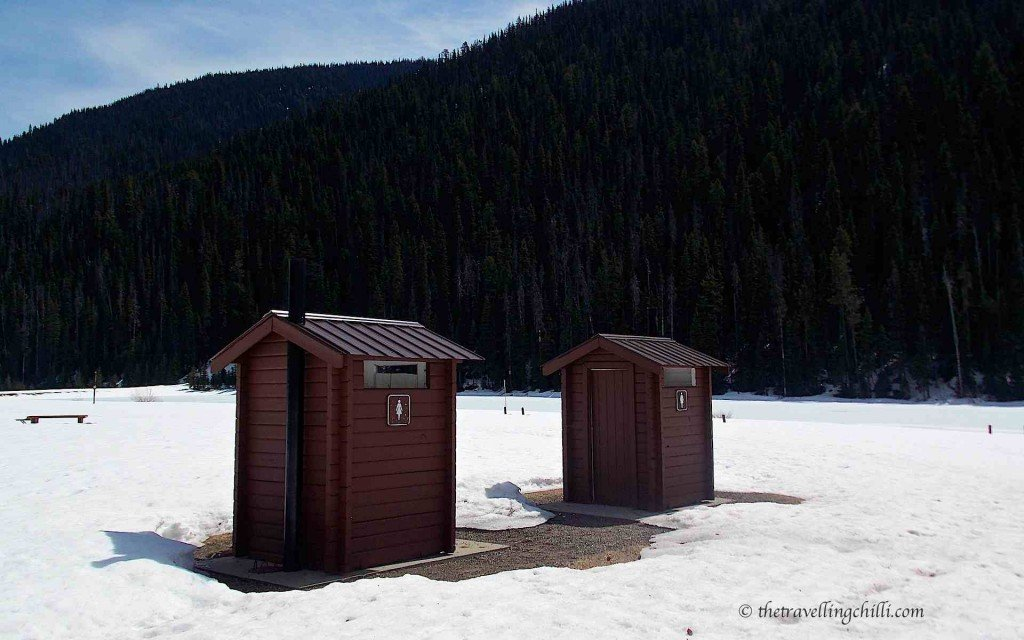 Canada manning national park toilet snow