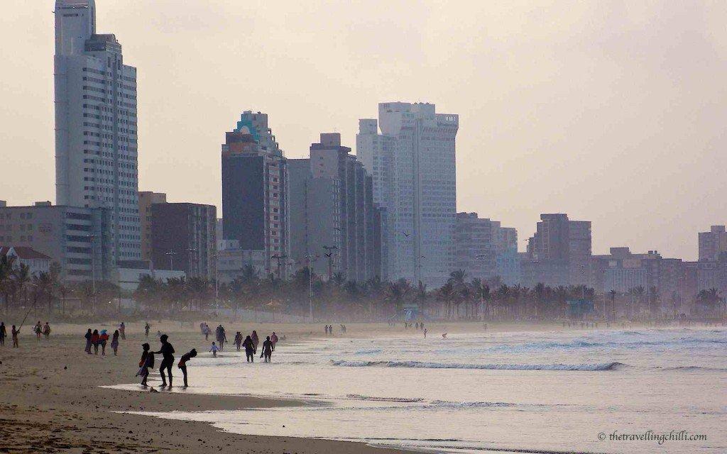Durban beach city south africa