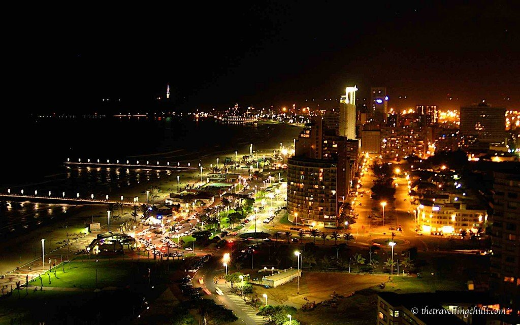 reasons to visit Durban South Africa | durban night beachfront beach