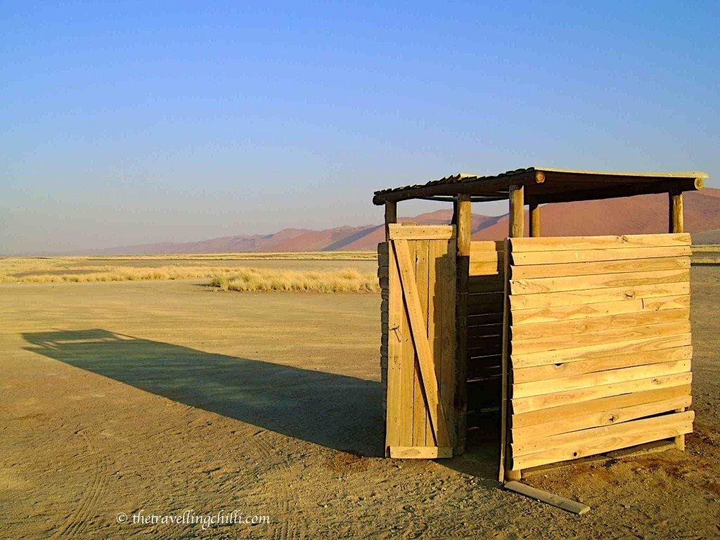 Sossusvlei toilet view namibia