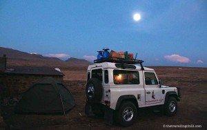 Camping full moon lesotho sani pass