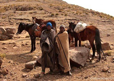 Friendly Basotho people