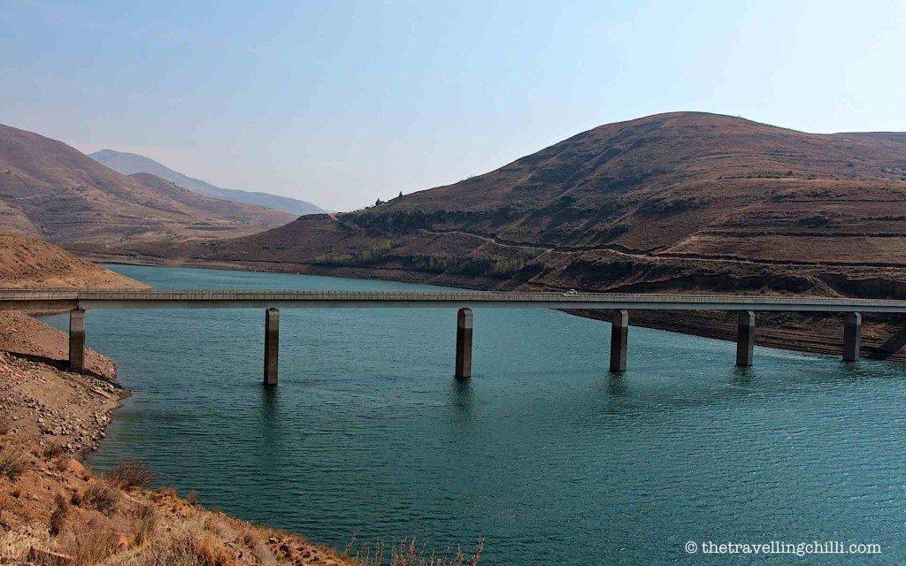 Katse dam bridge lesotho
