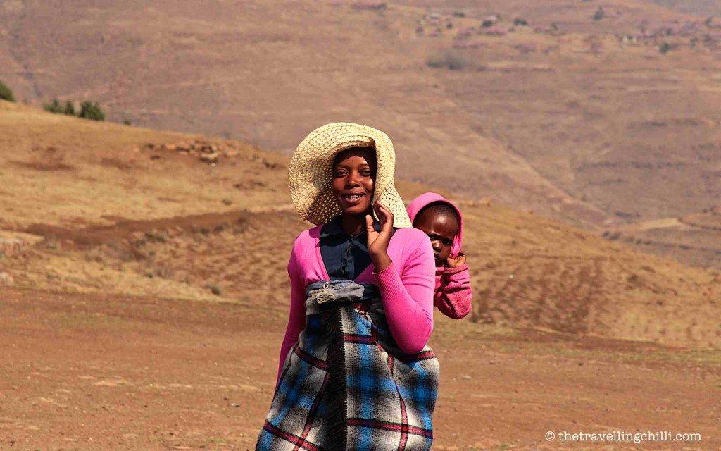 Lesotho friendly woman basotho