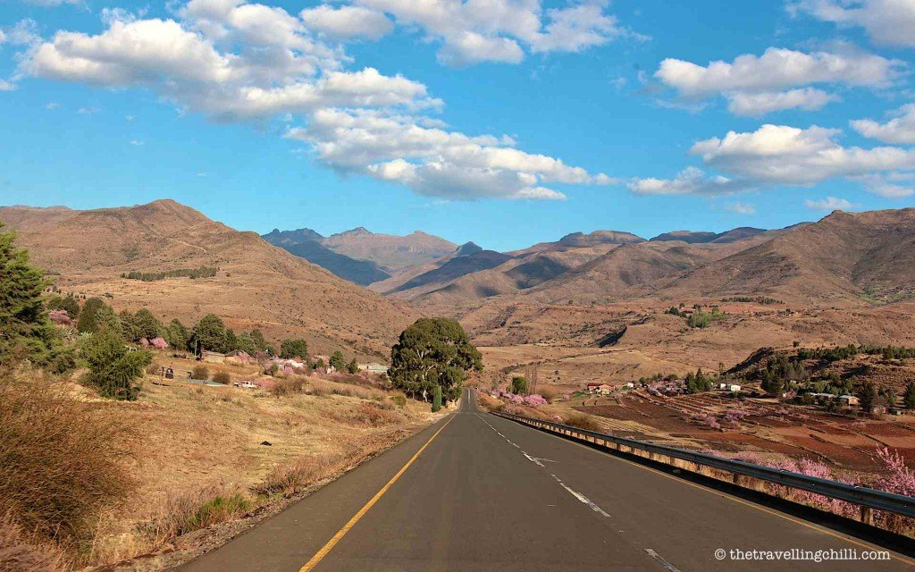 Road mountains lesotho