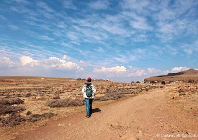 Walking on the Altiplano - Top of the Sani Pass