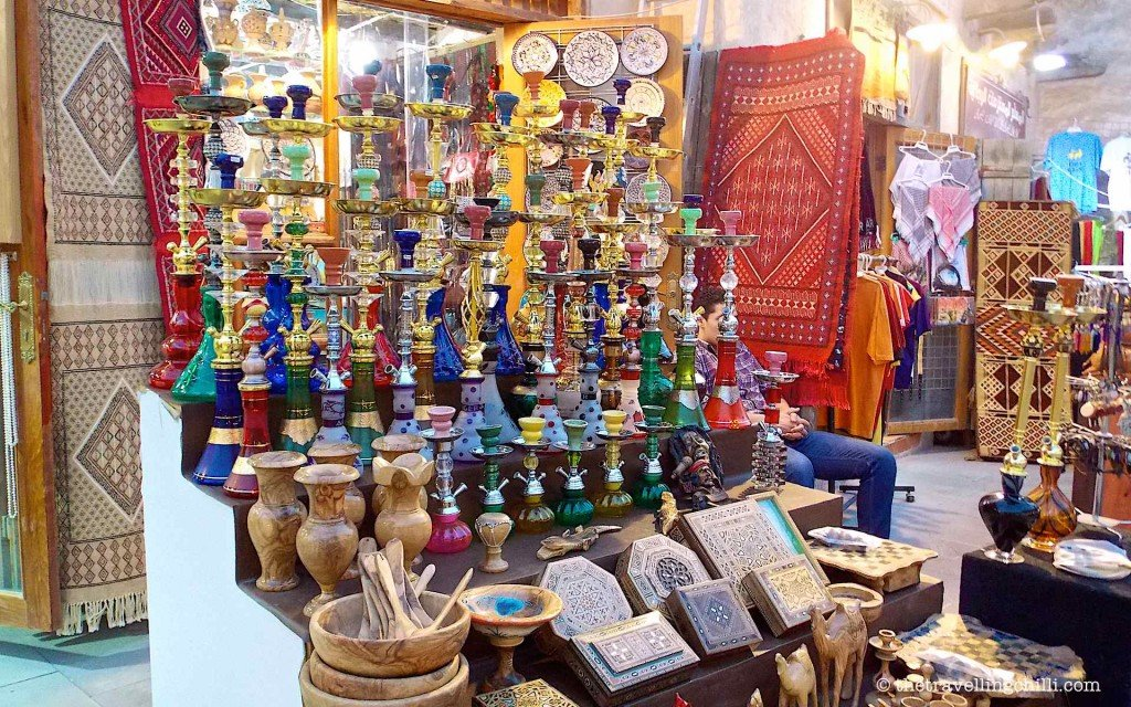 sheesha wooden box souq waqif doha qatar