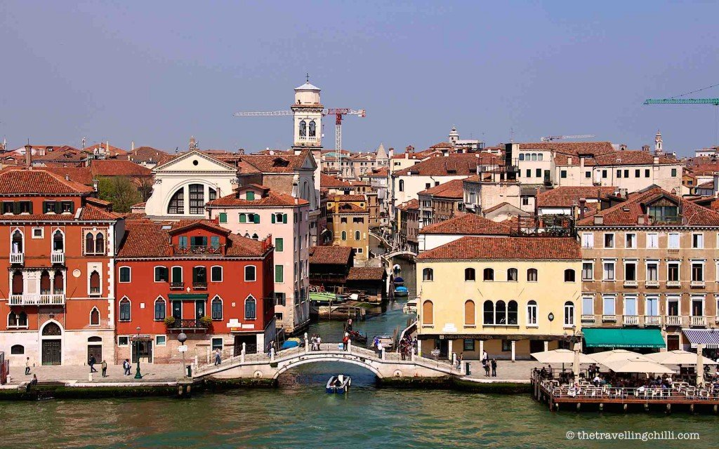 View of canals in Venice