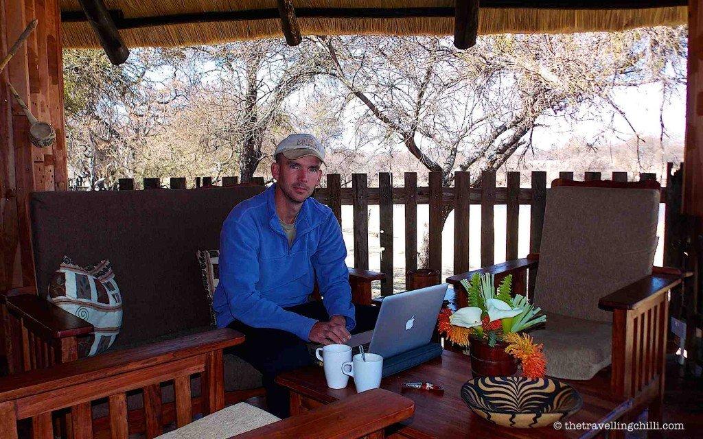 Using Wi-Fi at Antelope Park, Zimbabwe