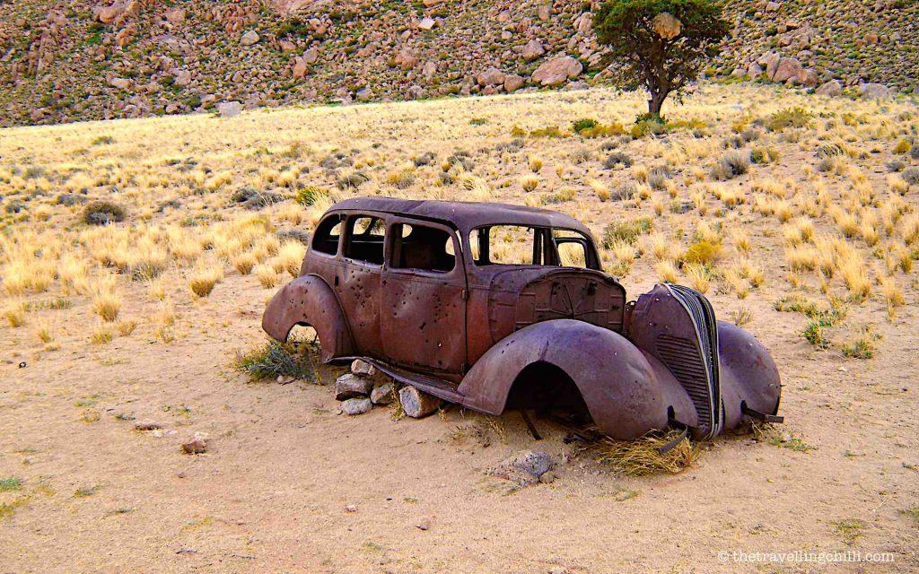 vintage car hudson klein aus vista namibia desert