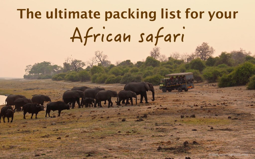 The ultimate packing list for your African safari