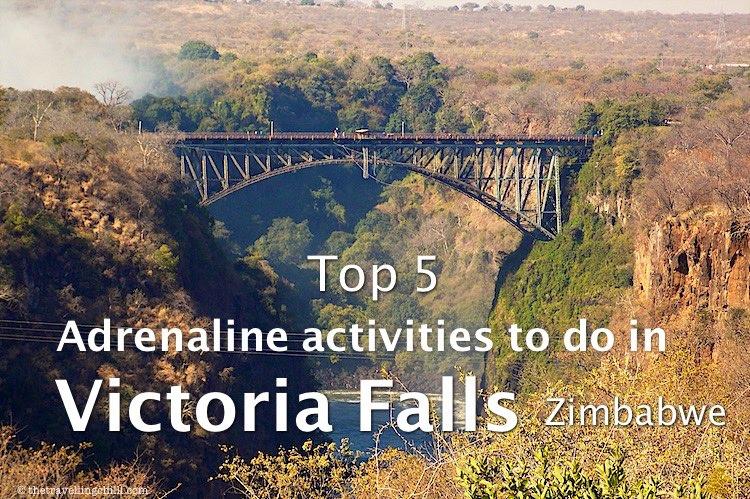 top adrenaline activities to do victoria falls zimbabwe