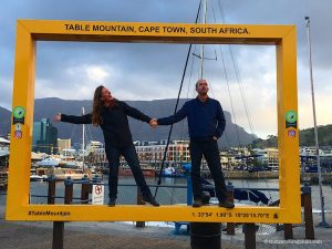 Table Mountain frames V&A Waterfront