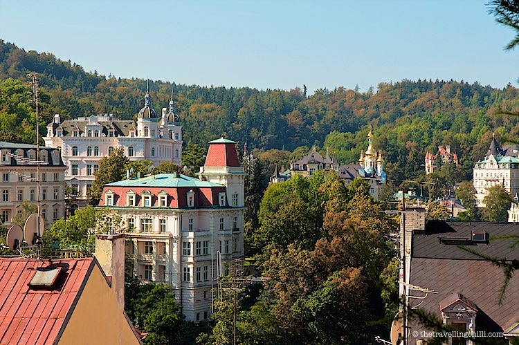 things to do in Karlovy Vary Czech Republic Karlsbad colourful houses amidst the forest