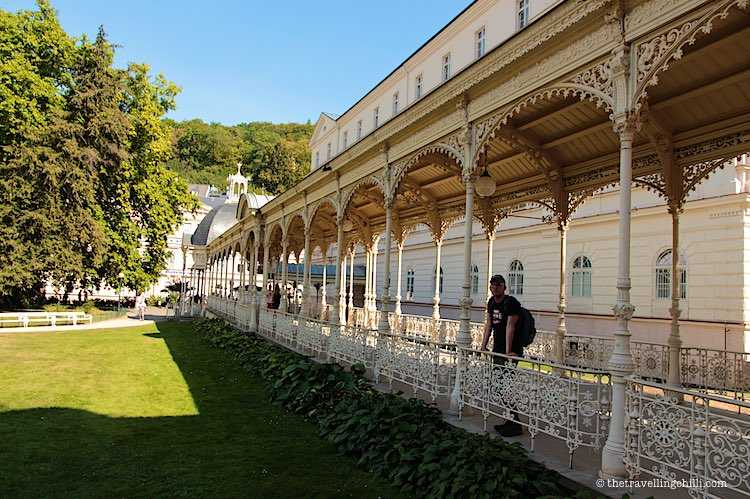 View over Park Colonnade in Karlovy Vary Carlsbad