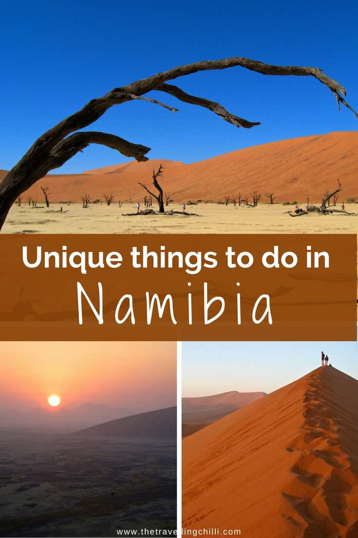 Unique things to do in Namibia