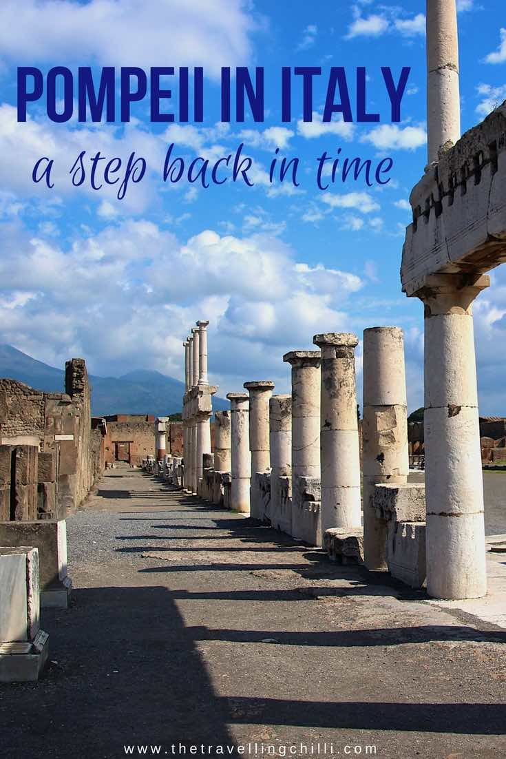 Pompeii in Italy a step back in time