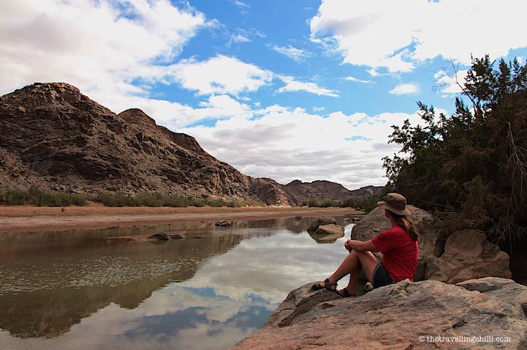 End of Fish River Canyon hike by Ai-Ais hot springs Namibia