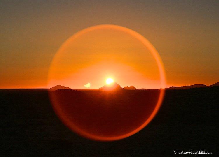 Sunset Spitzkoppe Namibia