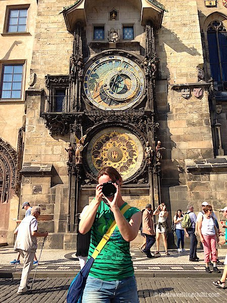 Medieval astronomical clock in Prague Czech Republic