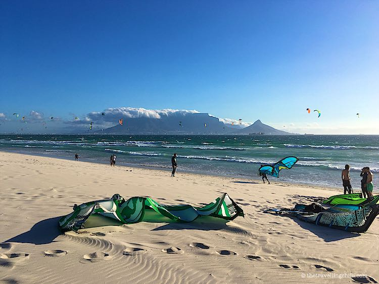Kitesurfing Table View Table Mountain
