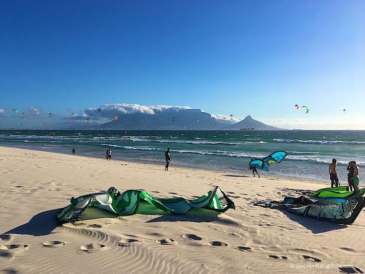 Kitesurfing Table View Table Mountain