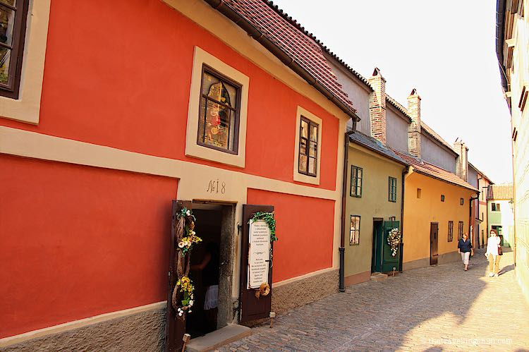 Golden Lane Prague Castle Czech Republic
