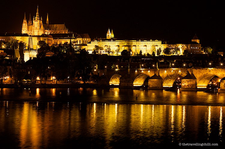 Prague Castle by night Czech Republic