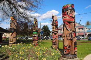 Totem poles Vancouver Island Duncan