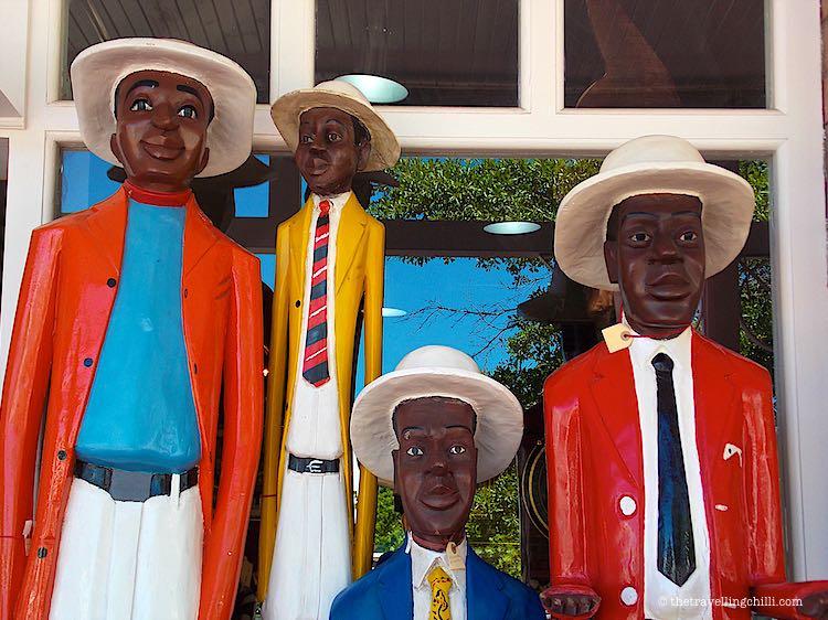 wooden statues souvenir cape town