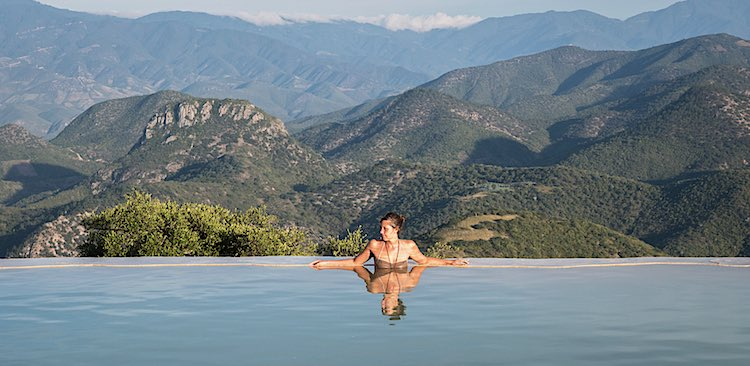 Hierve el Agua pool in Oaxaca Mexico