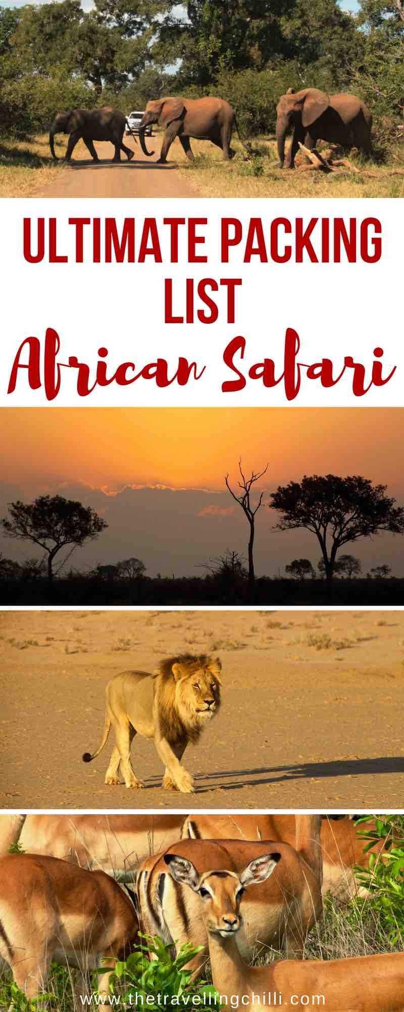 Ultimate packing list for an African safari |packing list safari in africa | african safari packing list | packing list African safari