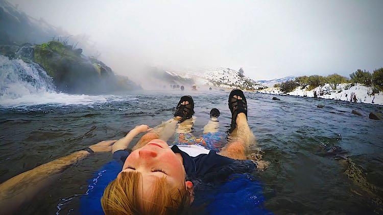 boiling river yellowstone nationa park usa