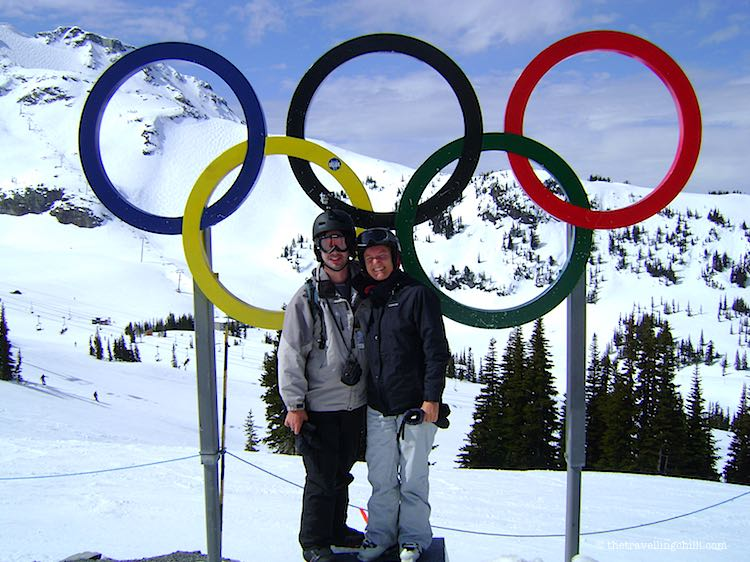 Olympic rings in Whistler Canada