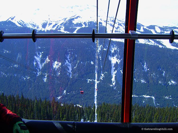 View from the Peak 2 Peak Gondola Whistler