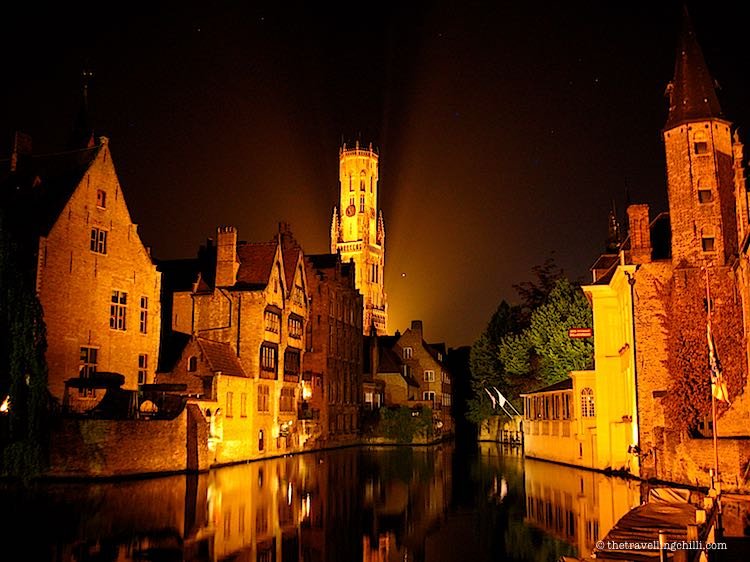 Bruges by night Romantic getaways in Europe