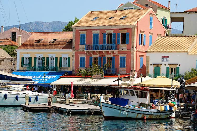 Waterfront Fiscardo Greece Romantic getaways in Europe