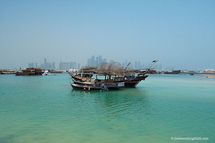 View from the Corniche in Doha Qatar